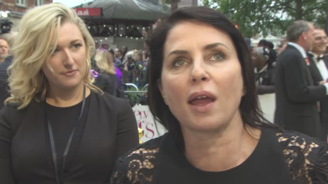 INTERVIEW Sadie Frost on the appeal of 'AbFab' identifying with the characters at 'Absolutely Fabulous The Movie' UK film premiere at Odeon Leicester...