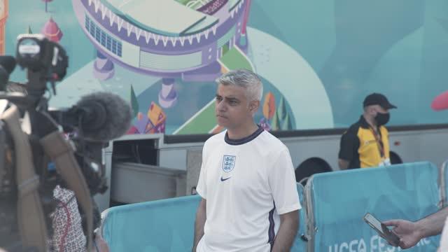 GBR: England v Croatia - UEFA Euro 2020: Group D General Views at Trafalgar Square Fan Zone