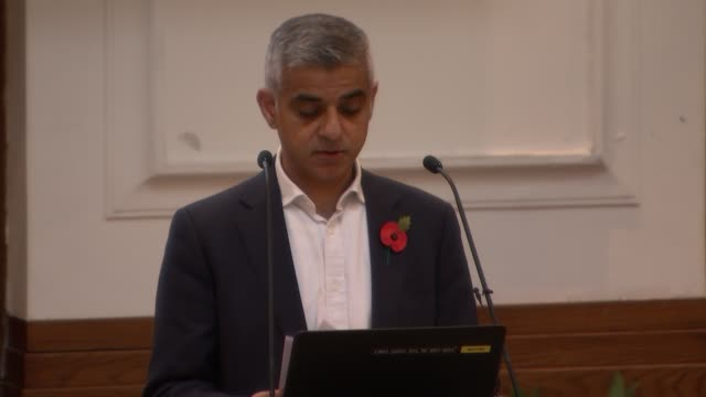 Sadiq Khan attends knife crime event ENGLAND London Docklands University of East London INT Sadiq Khan speech SOT re knife crime Sadiq Khan interview...