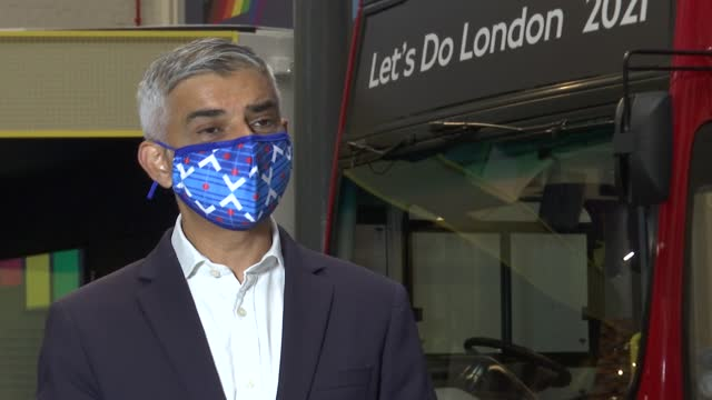 sadiq khan attends 'let's do london' event at london transport museum; england: london: covent garden: london transport museum: sadiq khan interview... - limb body part stock videos & royalty-free footage