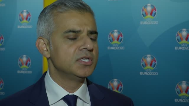 Sadiq Khan attends UEFA event Sadiq Khan interview SOT