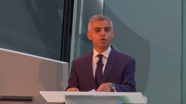 Sadiq Khan attends UEFA event Sadiq Khan speech SOT re Euro 2020 Greg Clarke speech SOT