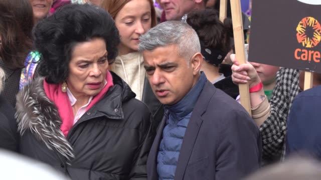sadiq khan bianca jagger on march 8 2020 in london england - sadiq khan stock videos & royalty-free footage