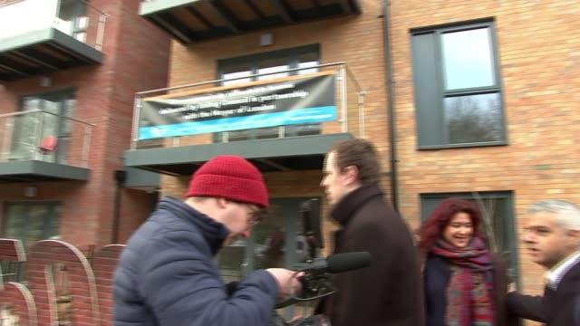 sadiq khan defends housing policy england london ealing ext sadiq khan and others arriving to hand over keys to new council flats sadiq khan meeting... - ealing stock videos and b-roll footage