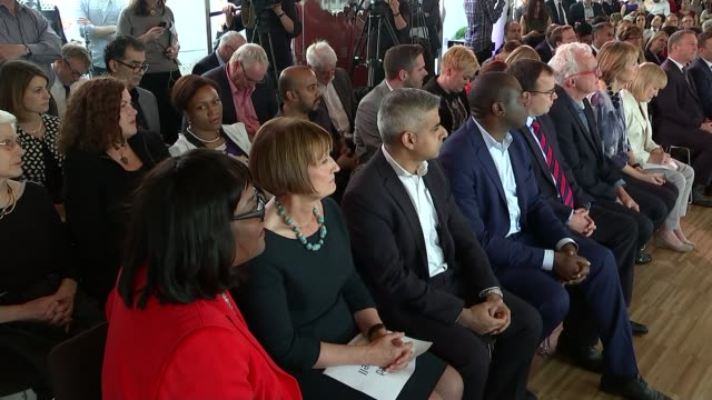 sadiq khan elected as labour's candidate for london mayor / prospects for jeremy corbyn england london int dame tessa jowell before results announced... - side by side stock videos & royalty-free footage