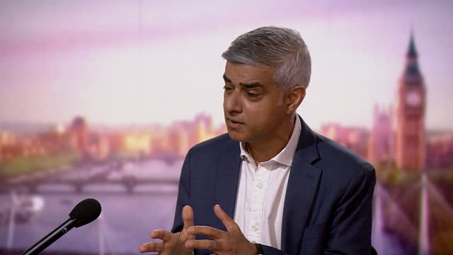 sadiq khan explaining why violent crime numbers are different between him and boris johnson during their times as mayor of london - capital cities stock videos & royalty-free footage
