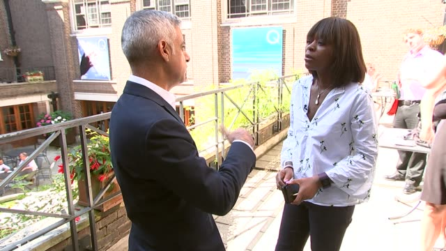 Sadiq Khan insists war against moped crime in London is being won ENGLAND London EXT Sadiq Khan setup shot with reporter / interview SOT The good...