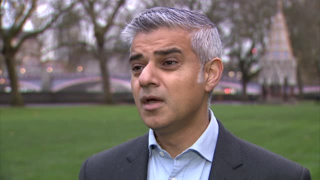 London EXT Sadiq Khan MP interview MP re knife crime in London and police cuts