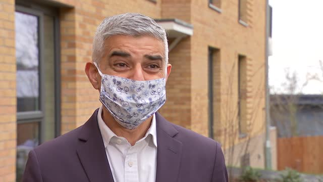 sadiq khan interview; england: london: harringay: ext sadiq khan interview sot. - on housing / rehousing - on met police policing of sarah everard... - crime and murder stock-videos und b-roll-filmmaterial