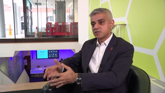 sadiq khan interview on violent crime in london england london ext sadiq khan interview sot on advice from violence reduction unit in glasgow /... - reduction stock videos and b-roll footage