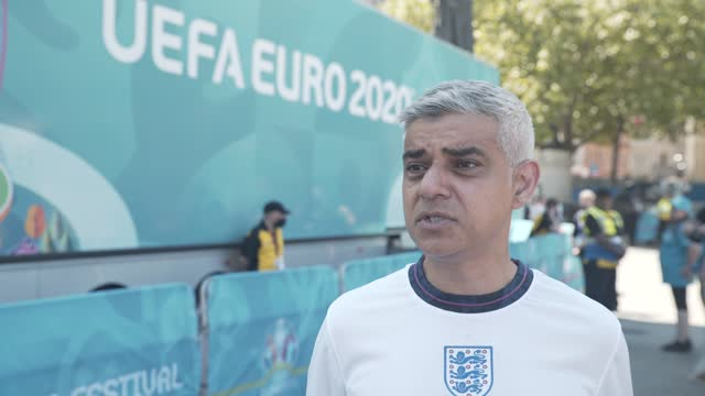 sadiq khan on the potential delay of the june 21st reopening of the uk, the economic recovery from covid, excitement for the euros and england's... - limb body part stock videos & royalty-free footage