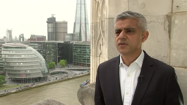 Sadiq Khan reflects on his first year in office as London Mayor ENGLAND London EXT Sadiq Khan interview SOT