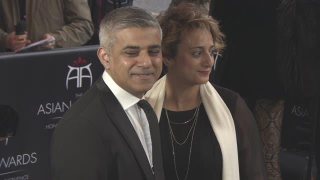 Sadiq Khan Saadiya Khan at The 6th Annual Asian Awards 2016 at The Grosvenor House Hotel on April 8 2016 in London England