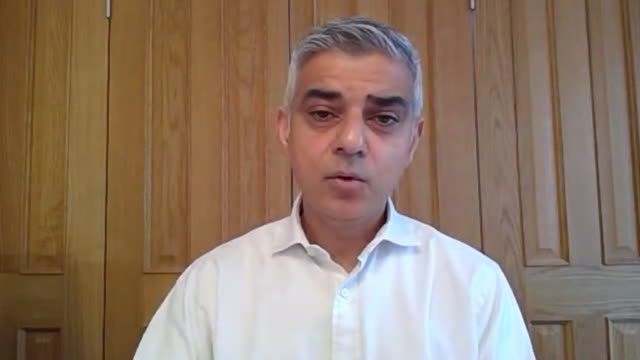 sadiq khan saying a facial covering can prevent passing on the coronavirus to another member of the public - part of stock videos & royalty-free footage