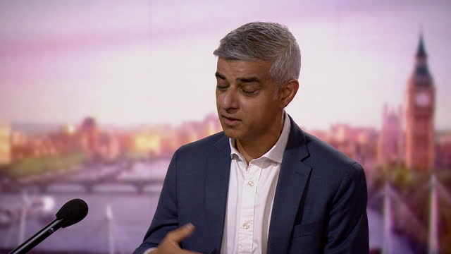 """sadiq khan saying he is """"assured"""" that wembley stadium will be safe to hold the euro 2020 semi finals and final - confidence stock videos & royalty-free footage"""