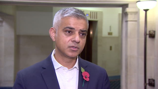 sadiq khan saying it could take a generation to bring knife crime in london down to an acceptable level - sadiq khan stock videos & royalty-free footage