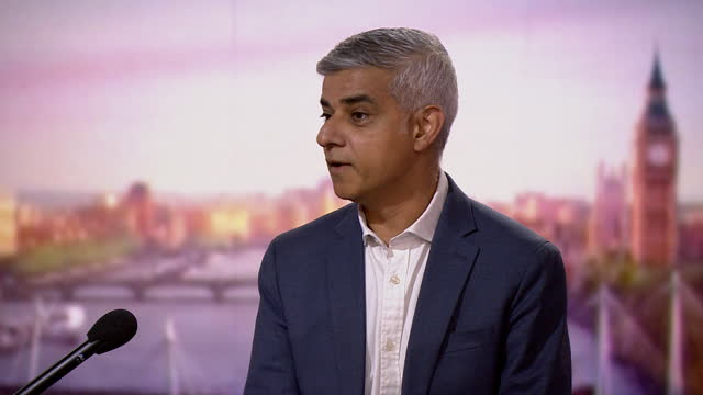 """sadiq khan saying london is doing """"far better"""" than other global cities in terms of covid vaccinations - improvement stock videos & royalty-free footage"""