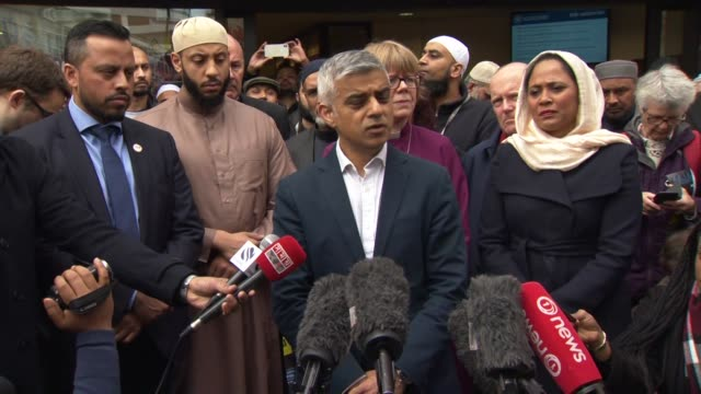 sadiq khan saying we feel the ripples of hatred the rippes of fear and the ripples of sorrow for our brothers and sisters in christchurch after a... - sadiq khan stock videos & royalty-free footage
