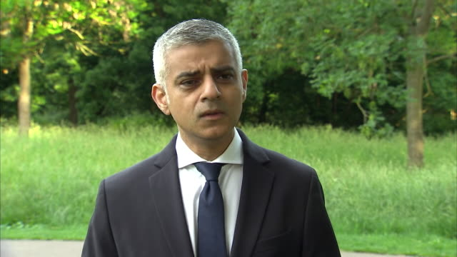 sadiq khan saying we have the best police and security services in the world - rescue services occupation stock videos & royalty-free footage