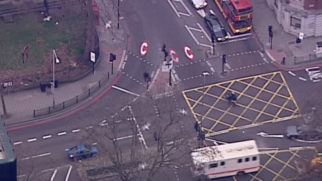 Sadiq Khan says new Ultra Low Emission Zone charge a price worth paying LIB / London Traffic at junction with congestion charge zone 'C' road markings