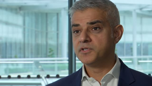 Sadiq Khan says new Ultra Low Emission Zone charge a price worth paying ENGLAND London City Hall INT Sadiq Khan interview SOT
