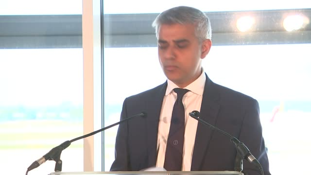 west sussex gatwick airport int stewart wingate introduction sot sadiq khan speech sot sympathy with victims of nice attack calls for expansion of... - general view stock videos & royalty-free footage
