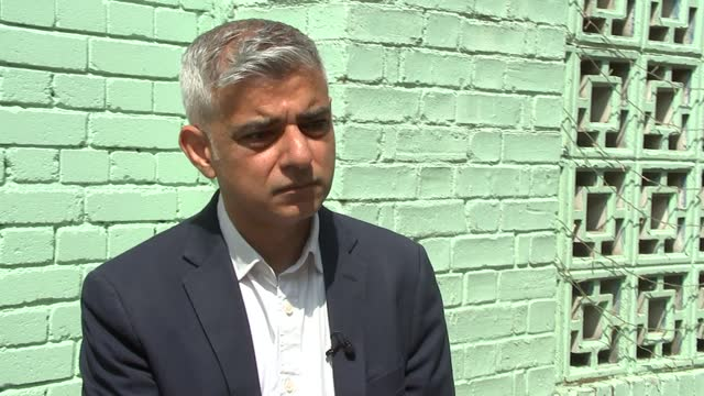 sadiq khan visits police station / interview; part 2 of 3 england: london: ext sadiq khan interview sot q: you've invested £1 billion in policing,... - rippled stock videos & royalty-free footage