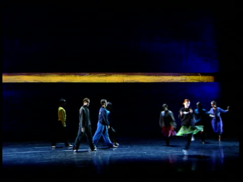 Reopening Dancers on stage rehearsing