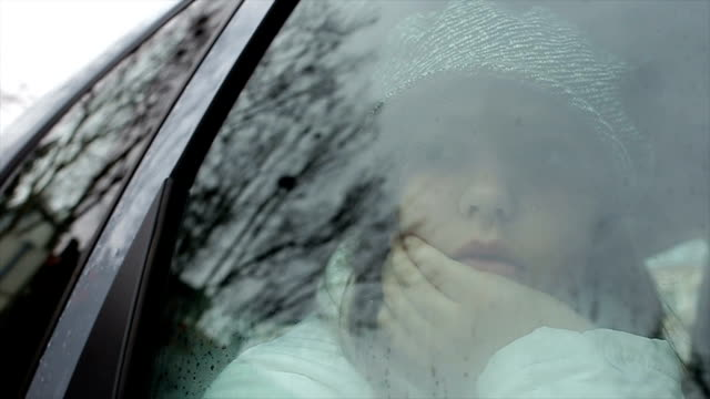 sad,rainy and cloudy day - teenage girls stock videos & royalty-free footage