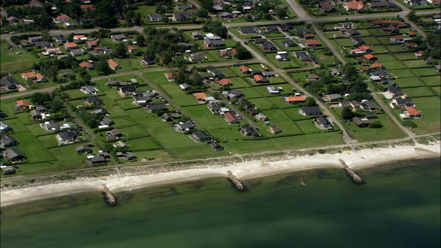 saeby  - aerial view - north denmark,  denmark - gazebo stock videos and b-roll footage