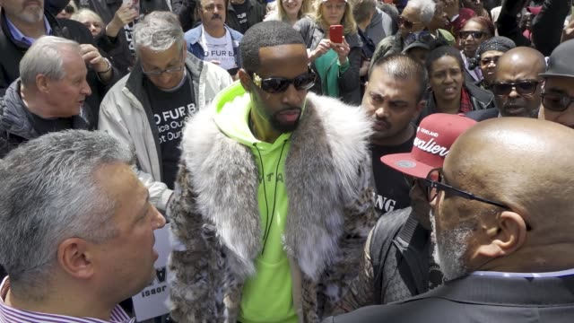 safaree lloyd samuels is a jamaicanamerican rapper songwriter and television personality rapper safaree attempted to get into city hall with his... - jamaican ethnicity stock videos and b-roll footage