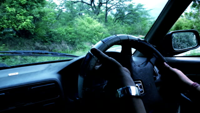 safe driving in mountains - car interior stock videos & royalty-free footage