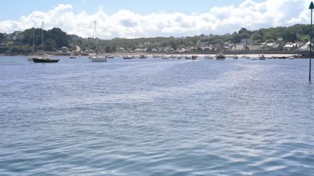 safe harbour at pen ar roz, brittany. - david johnson stock videos & royalty-free footage