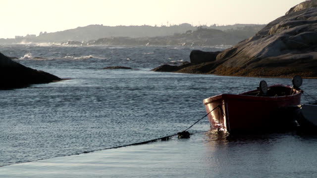 safe in peggys cove - nova scotia stock videos and b-roll footage