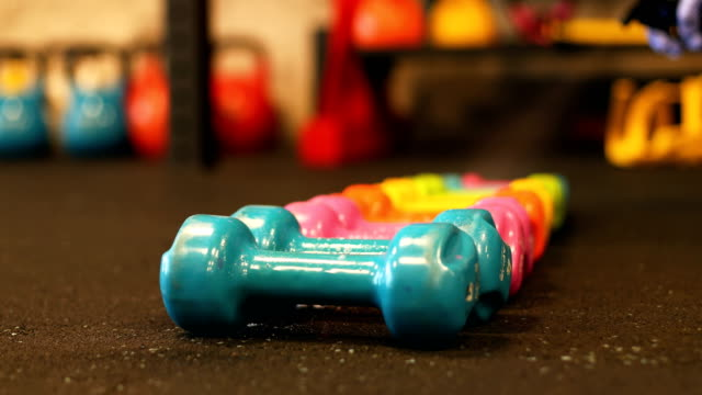 safely storing cleaned weights - weight stock videos & royalty-free footage