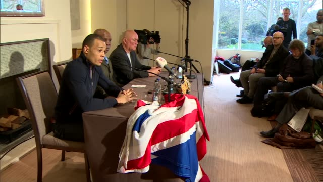 safety fears grow for sport following boxer nick blackwell's collapse after title fight; england: london: int press at press conference chris eubank... - chris eubank sr. stock videos & royalty-free footage