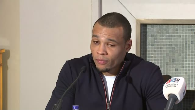 safety fears grow for sport following boxer nick blackwell's collapse after title fight; chris eubank jnr and chris eubank snr at press conference... - chris eubank sr. stock videos & royalty-free footage