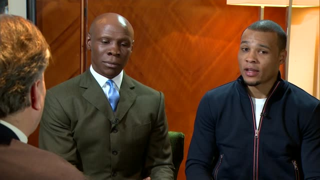 safety fears grow for sport following boxer nick blackwell's collapse after title fight; england: london: int chris eubank snr and chris eubank jnr... - chris eubank sr. stock videos & royalty-free footage