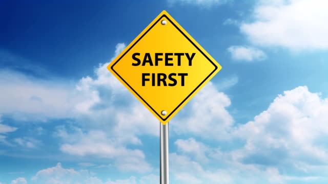 safety first sign - safety stock videos & royalty-free footage