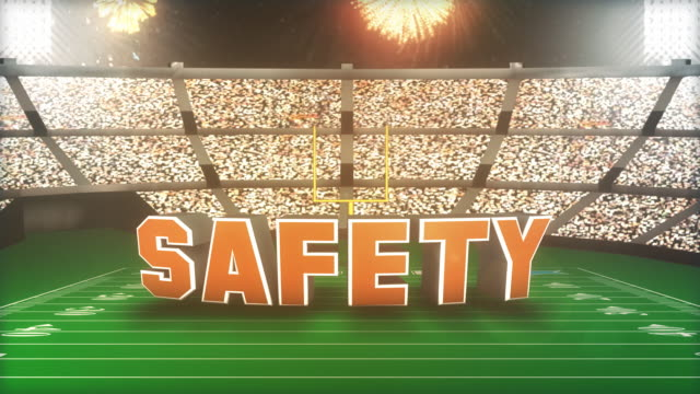 stockvideo's en b-roll-footage met safety! football animation with alpha - westers schrift