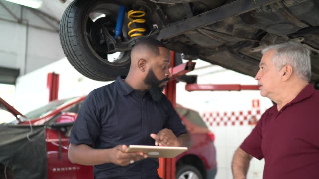 safety greeting of car auto repair - manual worker stock videos & royalty-free footage