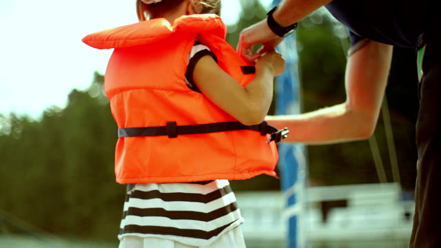 stockvideo's en b-roll-footage met safety on the boat - nautical vessel