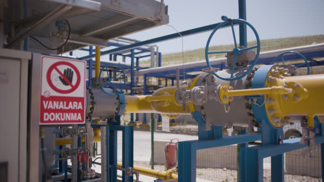 safety signs - danger, warning and caution labels - don't touch valves - hazardous area sign stock videos & royalty-free footage