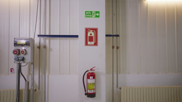 safety signs - danger, warning and caution labels - fire extinguisher - safety equipment stock videos & royalty-free footage