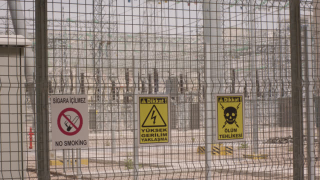 safety signs - danger, warning and caution labels - high voltage electrical hazard, danger of death - high voltage stock videos & royalty-free footage