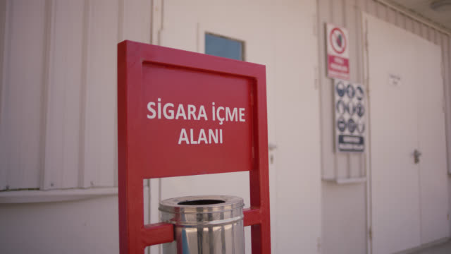 safety signs - danger, warning and caution labels - smoking area - hazardous area sign stock videos & royalty-free footage