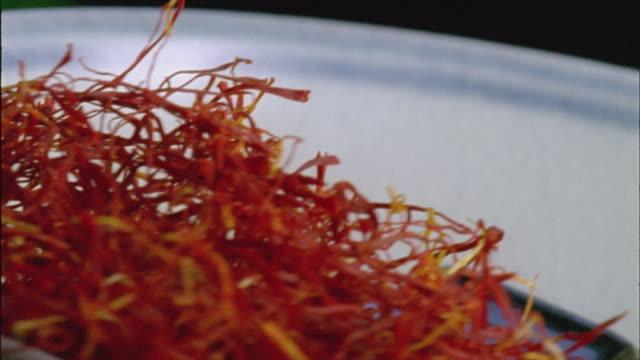 ecu, saffron threads - pistil stock videos & royalty-free footage