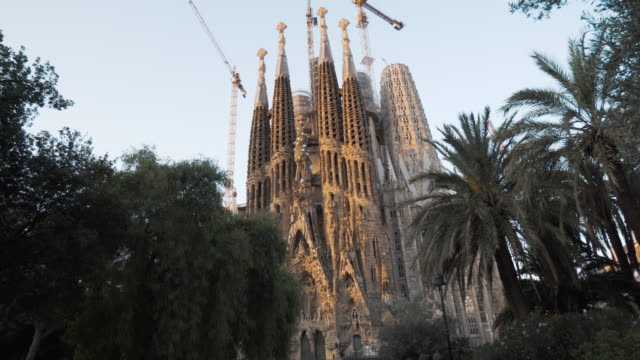 sagrada familia by gaudi at barcelona - monument stock videos & royalty-free footage