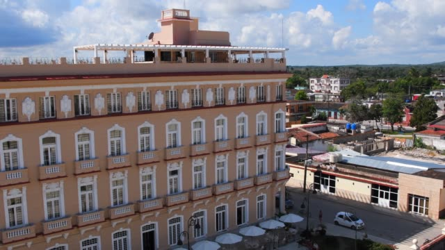 sagua la grande, cuba, 'hotel encanto sagua' aerial view - latin american culture stock videos & royalty-free footage