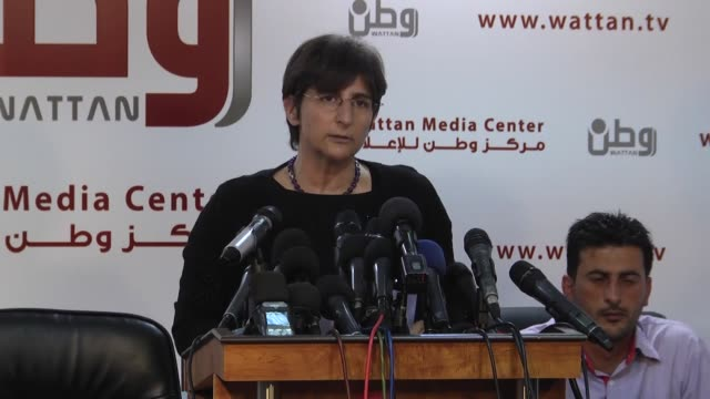 sahar francis, general director of ramallah-based addameer prisoner support and human rights association and issa qaraqe, head of the palestine... - 14 15 years stock videos & royalty-free footage